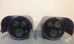 2x Infrared Security Cameras High 700TVL Indoor or