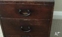 2 x Japanese wooden document chests. I have used as