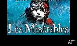 Hi there, I am selling 2 x Les Miserables tickets to