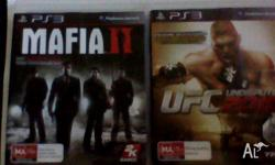 mafia 2 and UFC undisputed 2010, I have these 2 games