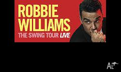 2x GA Standing tickets to Robbie Williams Saturday 27