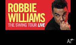 2x Robbie Williams - The Swing Tour Live Friday General