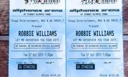 $300 for 2x Robbie Williams Tickets Allphones Arena