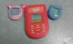Both used. Uno game is hardly used. Batteries not