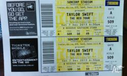 2x Taylor Swift The Red Tour Concert for sale on 7/12