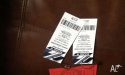 2 tickets to the game this Sunday stand up tickets,