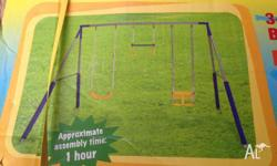 One 3-Unit Swing Set for sale. Brand new condition,