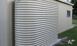for sale is a3000 litre paperbark silmline metal water