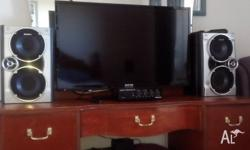 Hi guys,up for sale is my tv,amp and speakers.I have