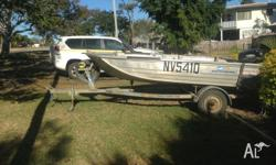 370 Stacer Proline,25hp Yamaha both boat and motor in