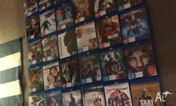 Up for sell are - 37 X Bluray movie titles All in