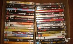 37 DVD's for sale, some great titles like Cruel