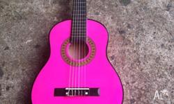 3/4 Child's Pink guitar 'Cedar'. No longer used. Good