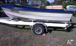 For sale: 3.5m Single Hull Fibre Glass Boat. Both the