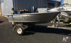 Complete package boat and trailer licenced 3 bench