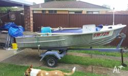 3.66mtr brooker runabout with 9.9 motor - hardly being