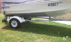 Hi there, I have a 3.7m Ali dinghy on a new trailer for