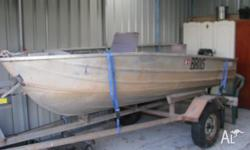 3.7M Aluminium Dinghy on trailer (Both just licenced)