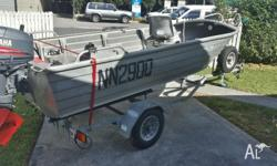 3.7m Tinny with a 25hp Yamaha 2 Stroke outboard with a