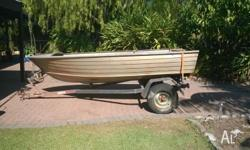 3.8m Savage tinnie & trailer for sale with no motor-