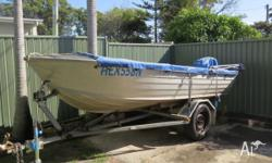 3.95m Bermuda Stingray Rego:10/15 with trailer , Rego