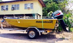 2008 Mariner 40hp 2 stroke tiller steer, recently