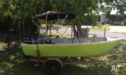3.9m Tinnie Boat with 20 HP Mercury For Sale! Marine