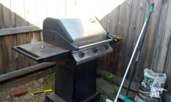 Free 3 burner BBQ! With hood. Good nick needs a bit of
