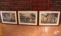Three George Henley prints of Australian nostalgia