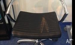 3 x Black and Silver Salon Chairs $100 each Negotiable
