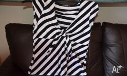 Ladies tops. Excellent condition. 1. black and white