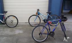 Up for sale i have 3 mountain bikes, 1 rideable now 2