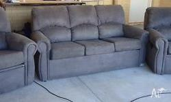 3 piece lounge suite 3 seater lounge with 2 recliner