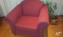 For sale is a sofabed and two matching armchairs. They