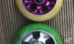 i have for sale 3 scooter wheels. one is a 110mm envy