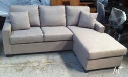 3 Seater Apartment Fabric Lounge With Reversible