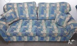 This is a 3 seater sofa with pull out bed made in