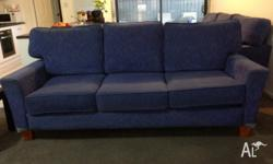 Two 3 seater sofas. Cornflower blue colour. Very
