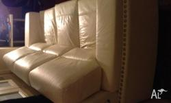High quality white leather sofa. Located in the city of