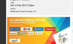 I have 3 tickets to the Aus v Eng match on Feb 14th.
