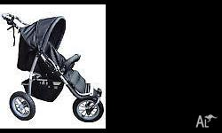 3 Wheeler Pram Jogger for Baby Pram Black As new