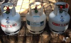 3 X 2kg Gas Bottles for sale in AS NEW condition