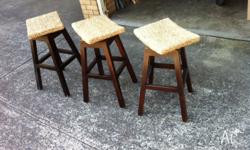 3 x near new Baliniese stools Stools stand at 80cm