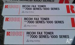 These 3 Cartridges of Genuine Ricoh Fax Toner refills