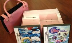 Up for sale is a hardly used 3d dsi console plus a