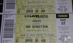 3 TICKETS TO 1 DIRECTION CONCERT TO NEXT WEEK CONCERT
