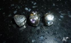 3x charms to fit pandora bracelet $10each. In very good