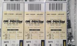 3x one direction hot seat tickets for their adelaide