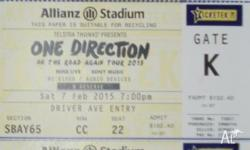 ONE DIRECTION CONCERT TICKETS - ALLIANZ SYDNEY SAT