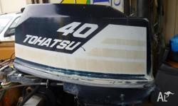 40 hp tohatsu 2 stroke outboard motor with forward